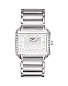 Tissot T-Wave White Dial Stainless Steel Ladies Watch