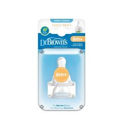 Dr. Brown's Level 3 Silicone Narrow Neck Options Nipple 2 Pack
