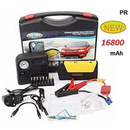 Power Bank Charger Portable 16800mAh Vehicle Car Jump Starter Booster Battery with Air Compressor