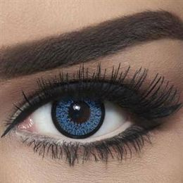 Bella Colored Highlight Cosmetic Contact Lenses - Blue