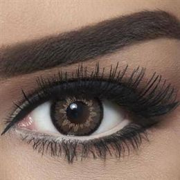 Bella Colored Highlight Cosmetic Contact Lenses - Circle Brown
