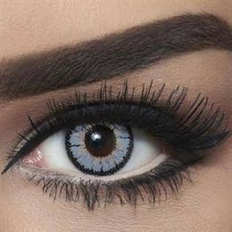 Bella Colored Highlight Cosmetic Contact Lenses - Circle Grey