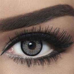 Bella Colored Highlight Cosmetic Contact Lenses - Cool Grey