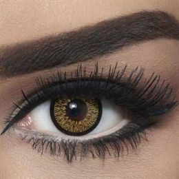 Bella Colored Highlight Cosmetic Contact Lenses - Cool Hazel