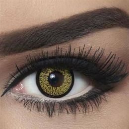 Bella Colored Highlight Cosmetic Contact Lenses - Gold
