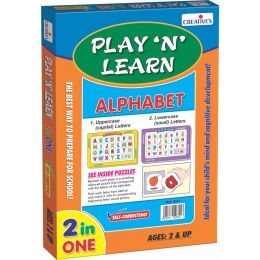 Play 'N' Learn 2 in 1- Alphabet-Upper & Lowercase (CE00339)