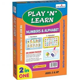Play 'N' Learn 2 in 1- Alphabet-Uppercase & Numbers (CE00341)
