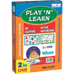 Play 'N' Learn 2 in 1-My Clothes & In the Bathroom (CE00343)