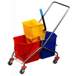 Cleaning Trolly Double Bucket 60 Ltrs