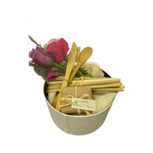 Organic Gift, Fresh Flowers, Bamboo Cutlary Kit