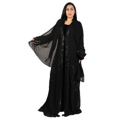 Darz PB18005 Classic Abaya, Black, L