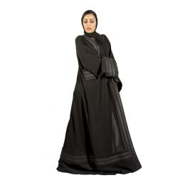 Darz PB18007 Classic Abaya, Black, XL