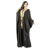 Darz PB18010 Open Abaya, Black, Free Size