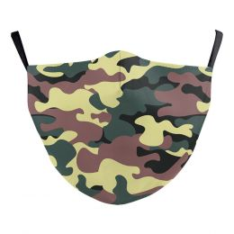 Washable Cloth Face Mask  - Army Green Camo