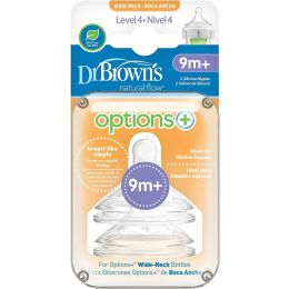 Dr Browns Level 4 Wide-Neck Silicone Options+ Nipple, 2-Pack
