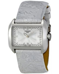 Tissot Women's T-Wave White Dial Leather Strap Watch