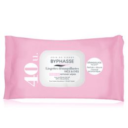 BYPHASSE MAKE-UP REMOVER WIPES MILK PROTEINS ALL SKIN TYPES 40U.