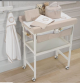 Natural Bath with shelves + Changing Pad + Cover Beige
